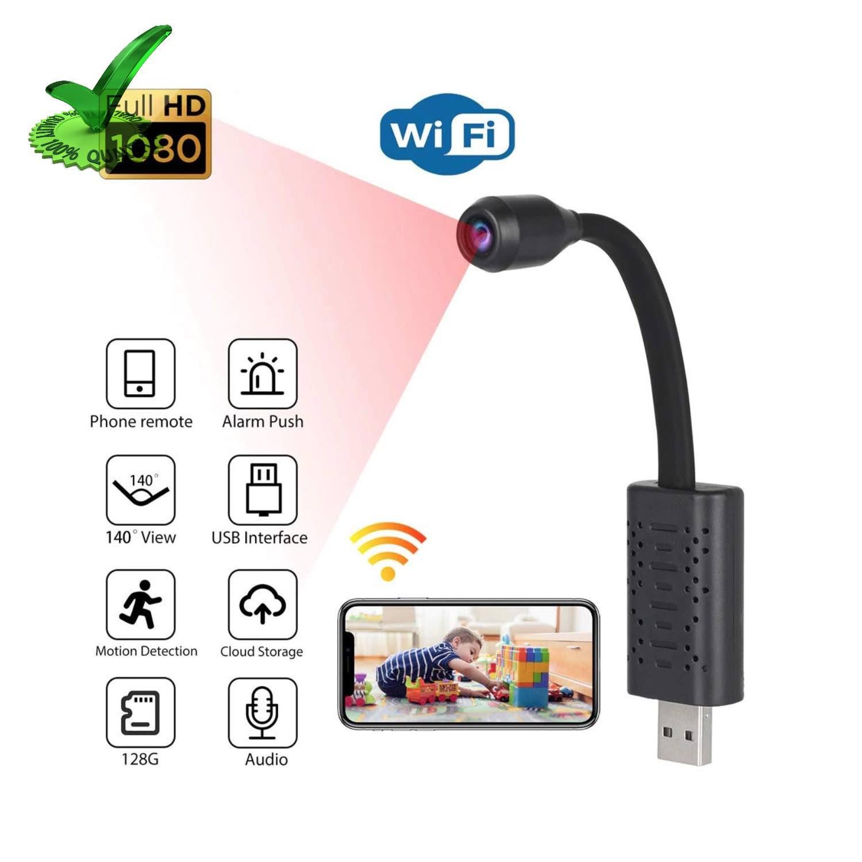 Mini Hidden USB Universal Interface WiFi Wireless 4K Spy Camera