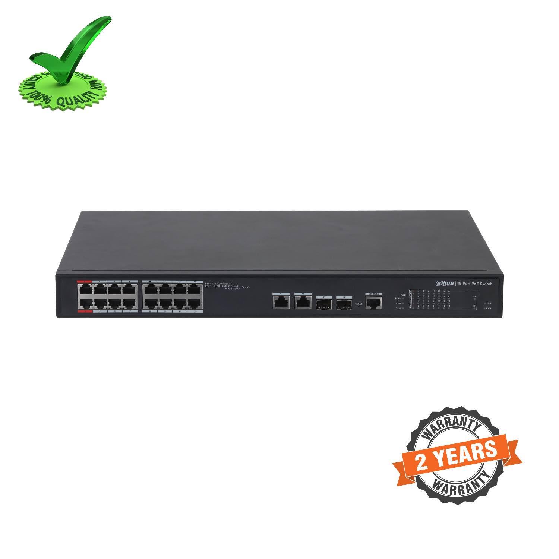 Dahua DH-PFS4218-16ET-190 16-port 100 Mbps + 2-port Gigabit PoE Switch