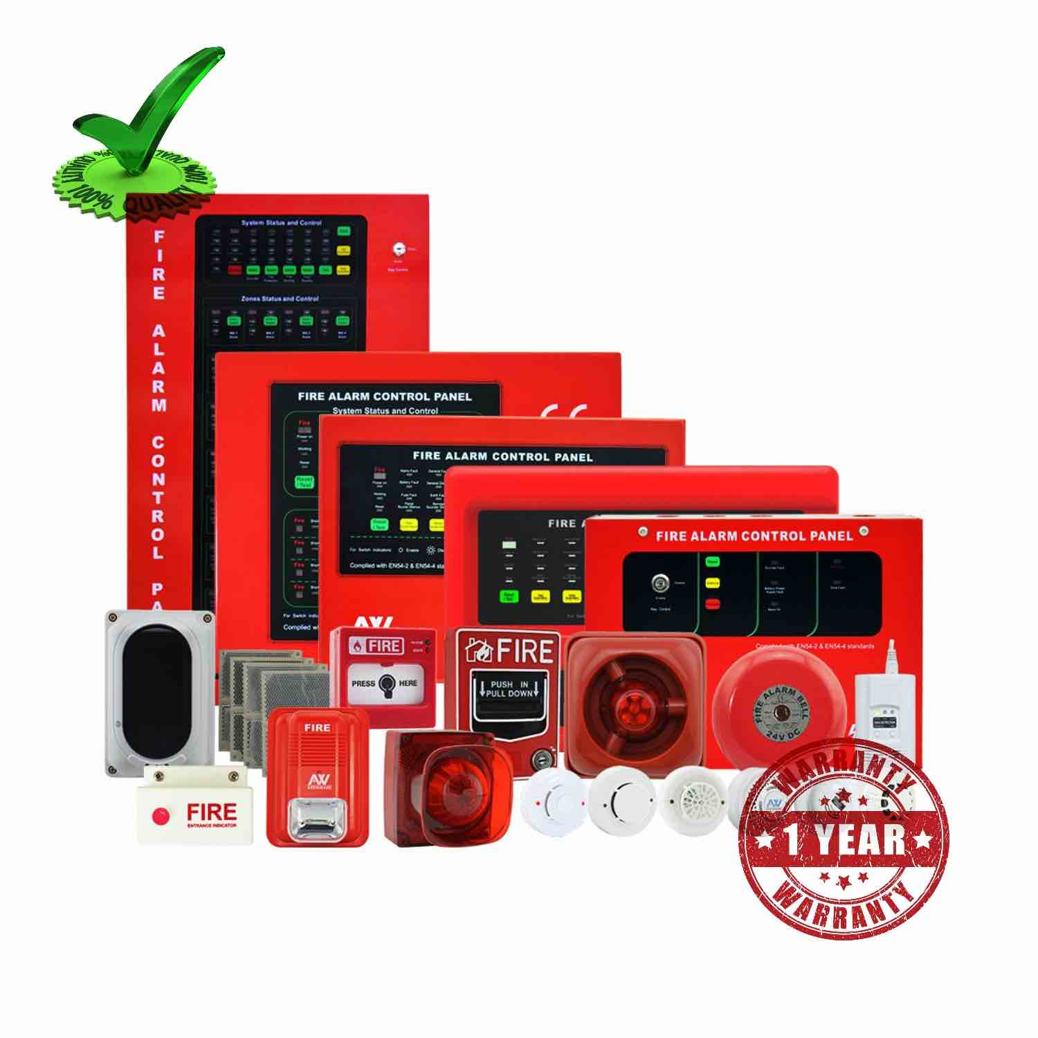 16 Zone Addressable Fire Alarm Control Panel
