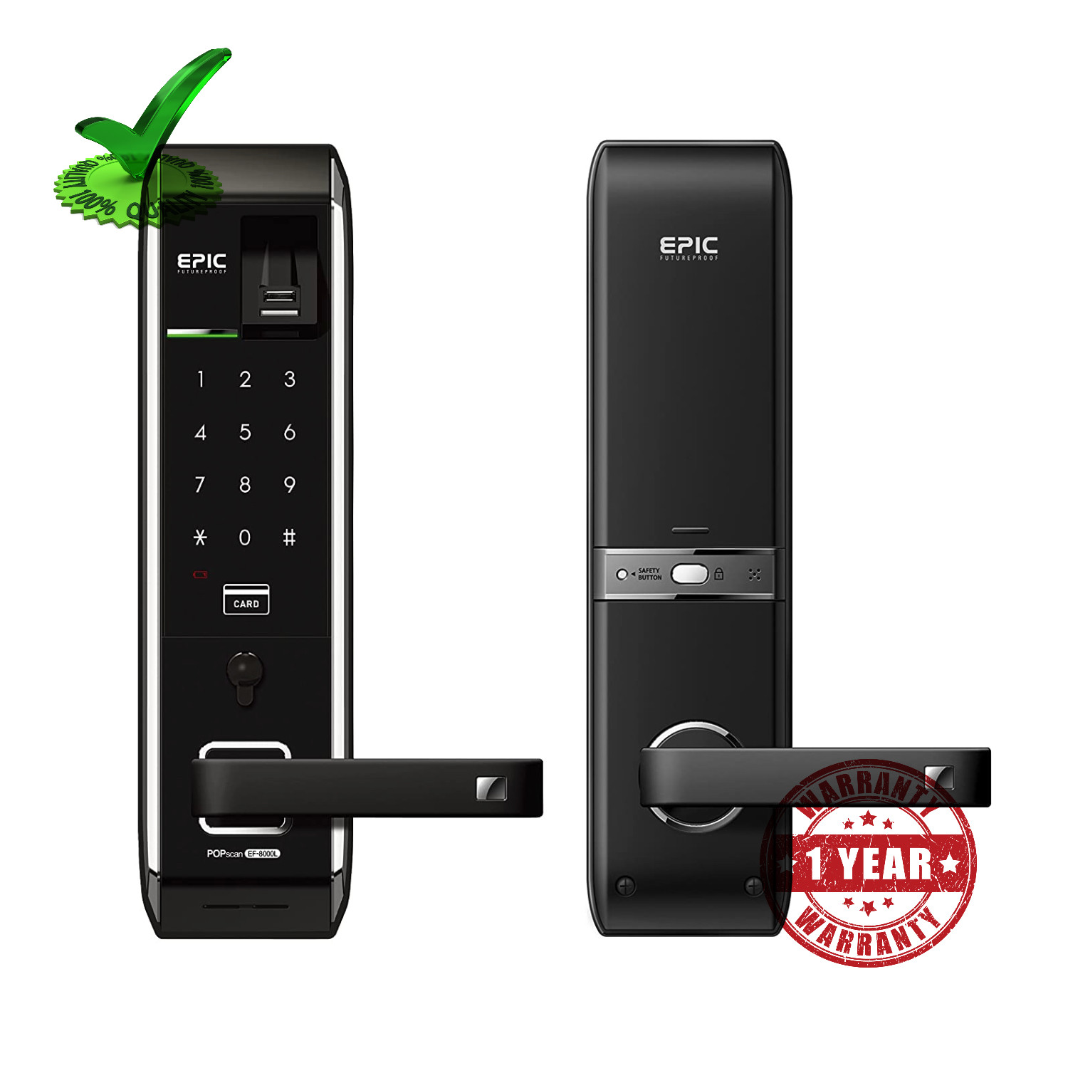 Epic EF 8000LR Digital Finger Print Door Lock