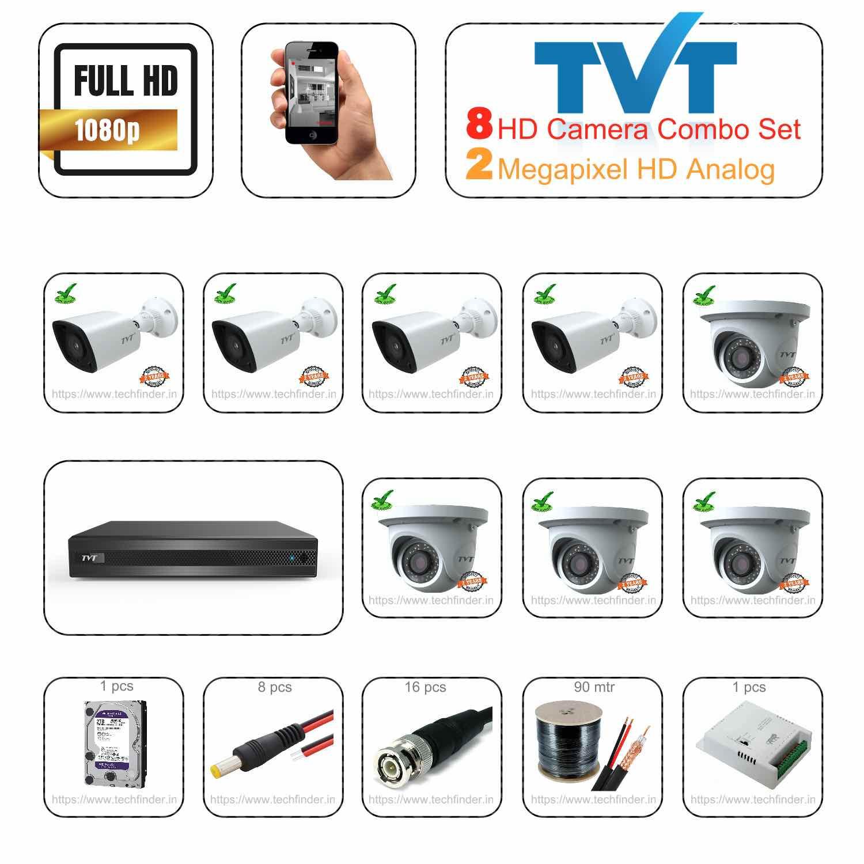 TVT HD 8 Camera Set Combo Kit