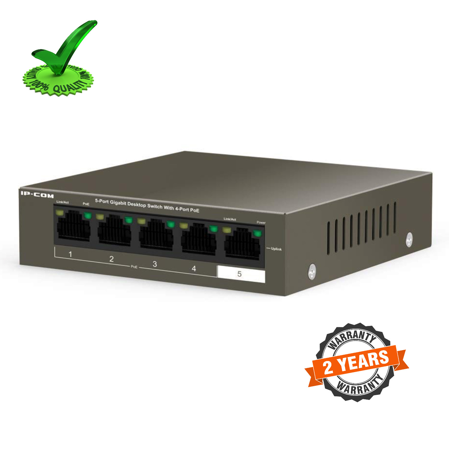 IP-Com G1105P-4-63W 5 Port Gigabit POE Switch