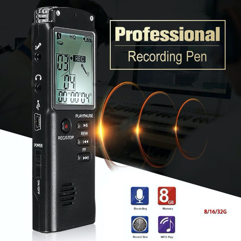 8GB Digital Audio Voice Recorder