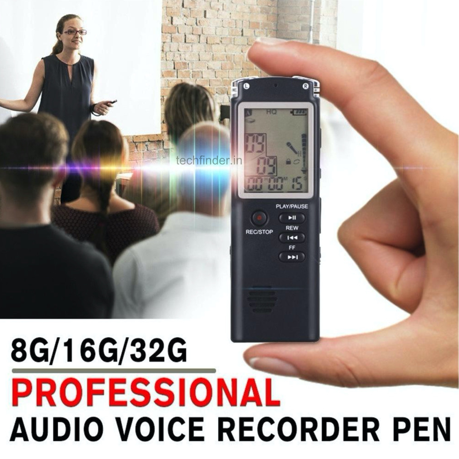 8GB Digital Audio Voice Recorder