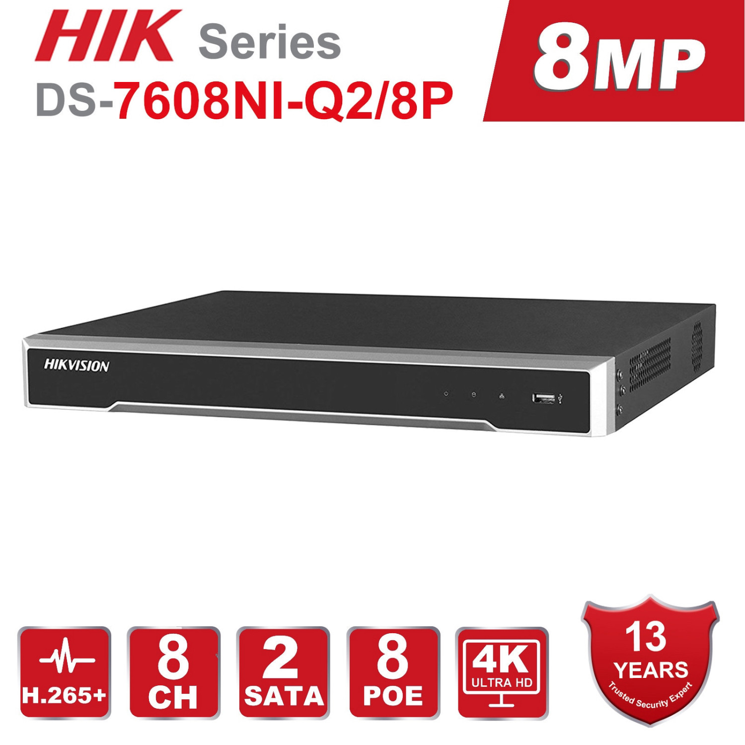 Hikvision DS-7608NI-Q2/8P 8ch POE 4k Nvr
