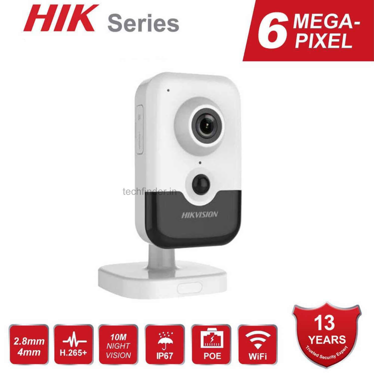 Hikvision DS-2CD2463G0-I(W) 6MP IR Wi-Fi Fixed Cube Network Ip Camera