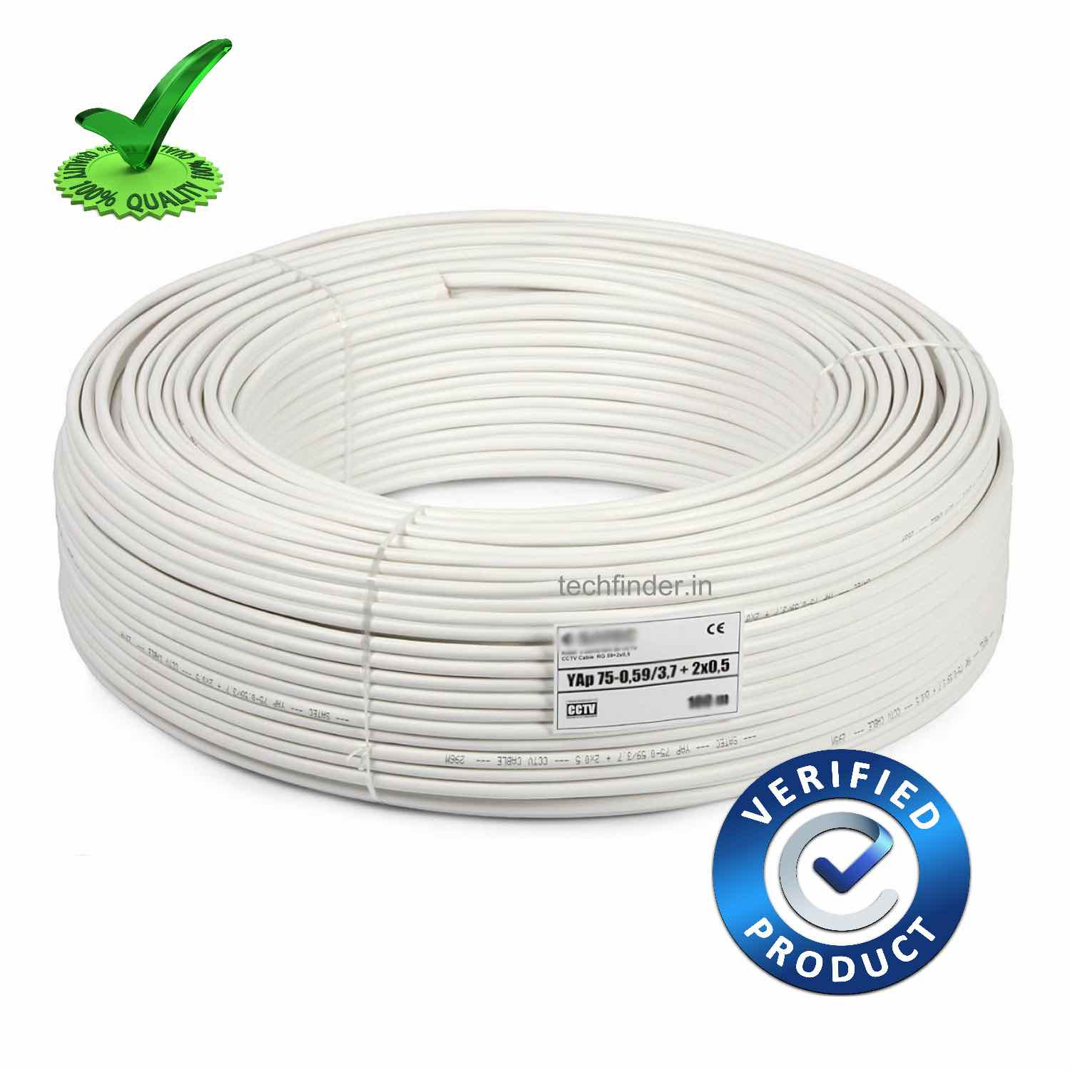 2+1 Co-Oxial Economy CCTV Cable 100mtr Coil