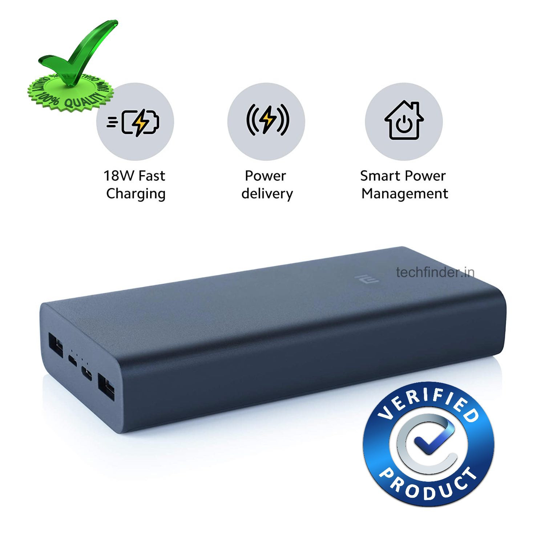 18W Fast Charging Mi Power Bank 3i 20000mAh 5vDC