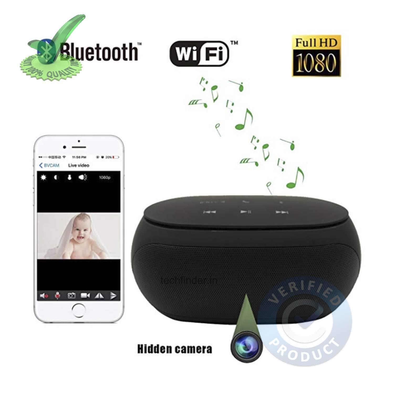 4k WiFi Spy Hidden Camera with Recorder in Bluetooth Speaker