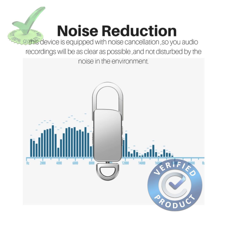 8gb 90hrs Spy Audio Sound Voice Recorder in Keychain