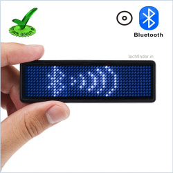 Bluetooth Programmable LED Badge Display Scrolling LED Sign Badge