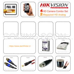 Hikvision HD 4 Cctv Camera Setup Combo Set