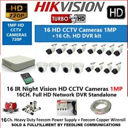 Hikvision 16Camera Setup Combo Set