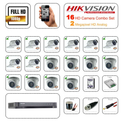 Hikvision 2mp HD 16 CCTV Camera Setup Combo Set