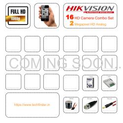 Hikvision HD 16 CCTV Camera Setup Combo Set