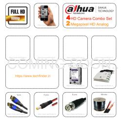 Dahua HD 4 CCTV Camera Setup Combo Kit