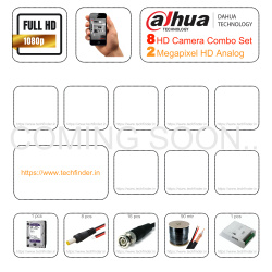 Dahua HD 8 Cctv Camera Setup Combo Kit