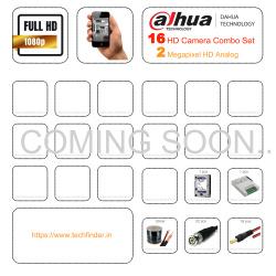 Dahua HD 16 Cctv Camera Setup Combo Kit