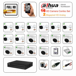 Dahua 2megapixel HDCVI 16 Cctv Camera Setup Combo Kit