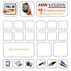 Hikvision HD 12 Camera Set Combo Kit