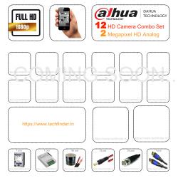 Dahua HD 12 Camera Set Combo Kit