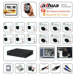 Dahua 2megapixel HDCVI 12 Cctv Camera Setup Combo Kit