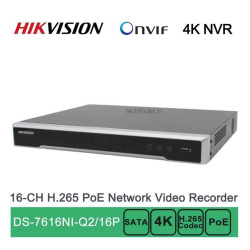 Hikvision DS-7616NI-Q2/16P 16ch POE 4k Nvr