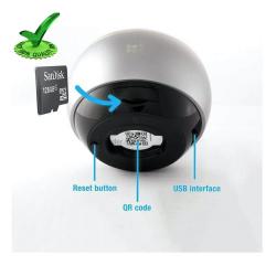 Hikvision Ezviz C6P ez360 Pano 360° Fisheye 3mp Security Camera