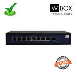W Box WBC0E0908P0E 8port 120w 1 Up Link  200mtr ext POE switch