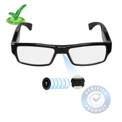 1080p FHD Ultra Slim Invisible Lens Eyewear Goggles Hidden Spy Camera