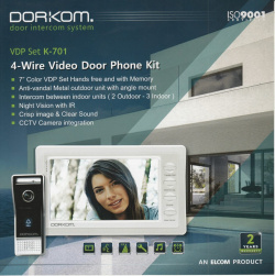 Dorkom VDP Set K 701 Video Door Phone