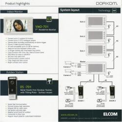 Dorkom VDP Set K-701 Advance Video Door Phone